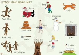 Stick Man word mat